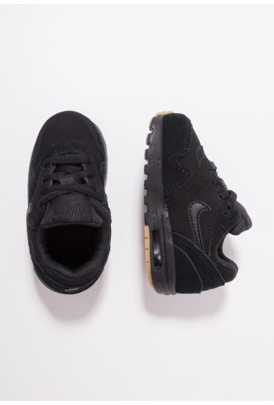Nike AIR MAX 1 - Baskets basses black/light brown