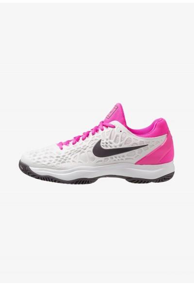 Nike AIR ZOOM CAGE 3 HC - Chaussures de tennis sur terre battue platinum tint/thunder grey/laser fuchsia