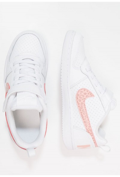 Nike COURT BOROUGH - Baskets basses white/rust pink/coral stardust