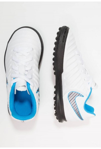 Nike TIEMPO LEGENDX 7 CLUB TF - Chaussures de foot multicrampons white/chrome/blue hero