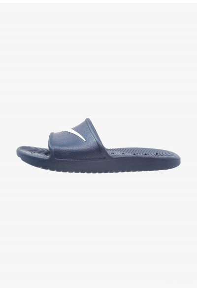 Nike KAWA SHOWER - Sandales de bain midnight navy/white