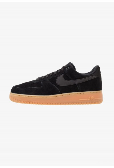 Nike AIR FORCE 1 07 LV8 SUEDE - Baskets basses black/medium brown/ivory