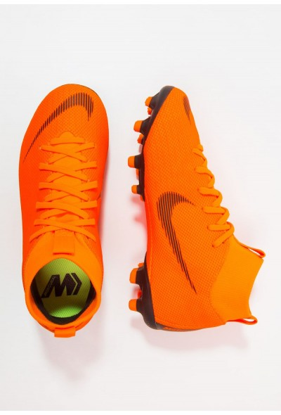 Nike MERCURIAL 6 ACADEMY MG - Chaussures de foot à crampons total orange/white/volt