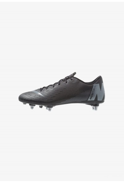 Nike MERCURIAL VAPOR 12 ACADEMY SG PRO - Chaussures de foot à lamelles black/anthracite/light crimson