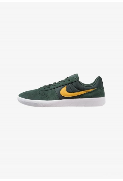 Nike TEAM CLASSIC - Baskets basses midnight green/yellow ochre/white