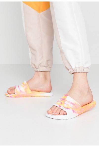 Nike KAWA SHOWER MARBLE - Sandales de bain white/laser fuchsia/laser orange