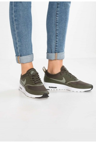 Nike AIR MAX THEA - Baskets basses cargo khaki/dark stucco/black