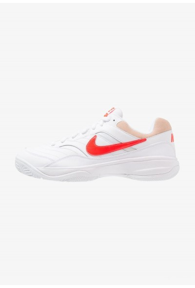 Black Friday 2019 - Nike COURT LITE - Baskets tout terrain white/bright crimson/bio beige