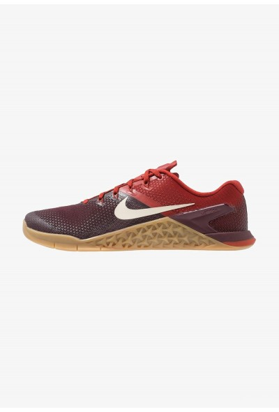 Nike METCON 4 - Chaussures d'entraînement et de fitness burgundy crush/light cream/dune red/light brown