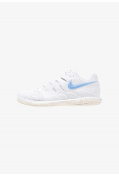 Nike AIR ZOOM VAPOR X CPT - Chaussures de tennis en salle white/university blue/light cream/metallic gold