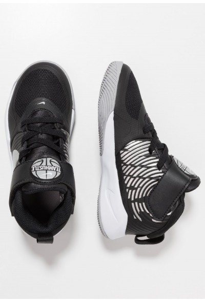 Nike TEAM HUSTLE 9  - Chaussures de basket black/metallic silver/wolf grey/white