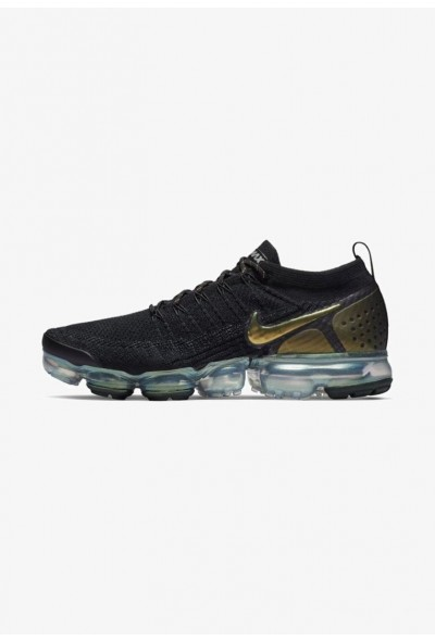 Nike AIR VAPORMAX FLYKNIT - Chaussures de running neutres - black/metallic silver/multi black/metallic silver/multi-colour