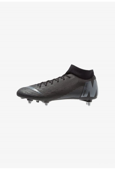 Nike MERCURIAL 6 ACADEMY SGPRO - Chaussures de foot à lamelles black/anthracite/light crimson