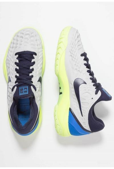 Nike AIR ZOOM CAGE 3 HC - Baskets tout terrain vast grey/blackened blue/signal blue