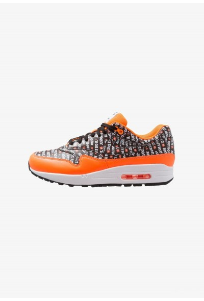 Nike AIR MAX 1 PREMIUM - Baskets basses black/total orange/white