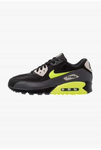 Nike AIR MAX 90 ESSENTIAL - Baskets basses dark grey/volt/black/light bone