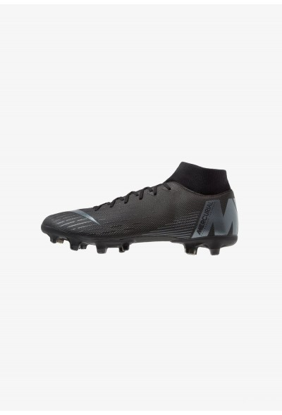 Nike MERCURIAL 6 ACADEMY MG - Chaussures de foot à crampons black/anthracite/light crimson