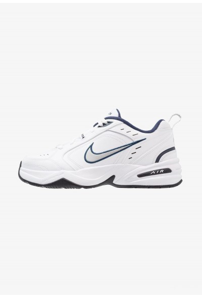 Nike AIR MONARCH IV - Baskets basses white/metallic silver