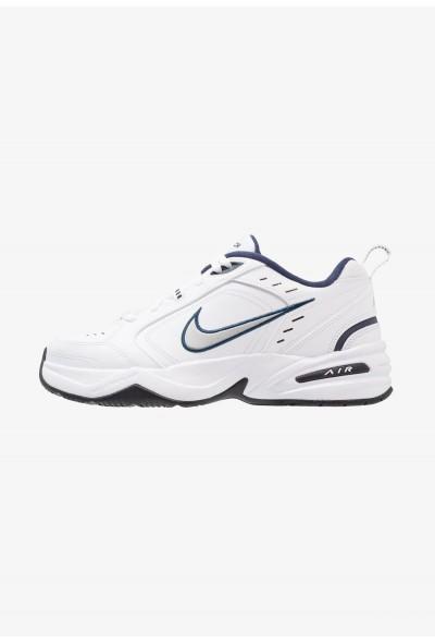 Nike AIR MONARCH IV - Baskets basses white/metallic silver