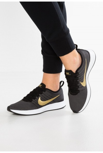 Nike DUALTONE RACER SE - Baskets basses black/metallic gold/dark grey/white