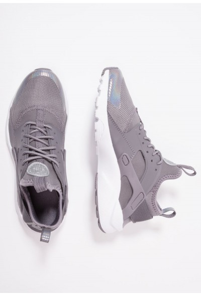 Nike AIR HUARACHE RUN ULTRA  - Baskets basses gunsmoke/metallic silver/white