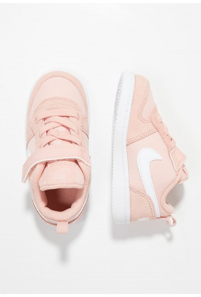 Nike COURT BOROUGH LOW - Chaussures premiers pas coral stardust/white