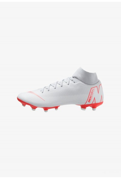 Nike MERCURIAL 6 ACADEMY MG - Chaussures de foot à crampons wolf grey/light crimson/pure platinum/metallic silver