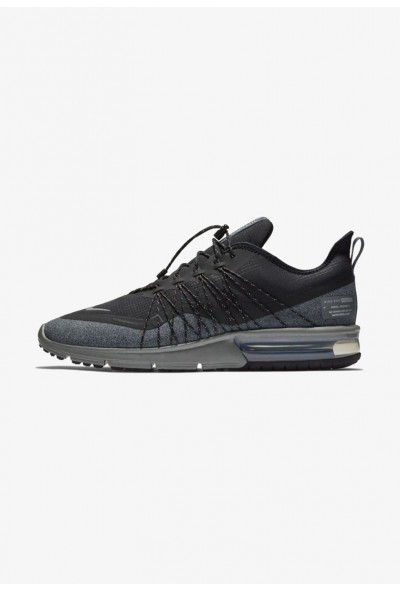 Black Friday 2019 - Nike AIR MAX SEQUENT 4 UTILITY - Chaussures de running neutres black/dark grey/metallic silver