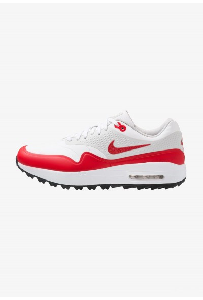 Nike AIR MAX 1 - Chaussures de golf white/university red/neutral grey/black