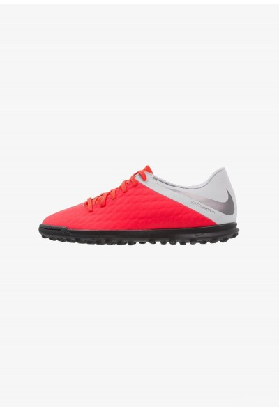 Nike PHANTOMX 3 CLUB TF - Chaussures de foot multicrampons light crimson/metallic dark grey/wolf grey
