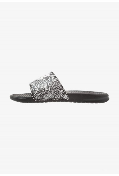 Nike BENASSI JDI PRINT - Mules black/summit white