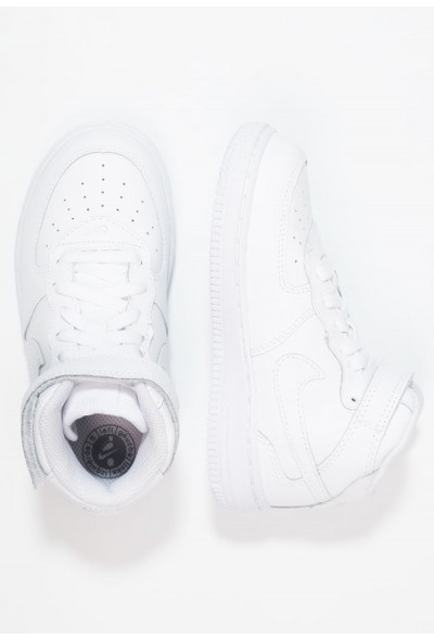 Nike NIKE FORCE 1 MID (TD) - Baskets montantes white