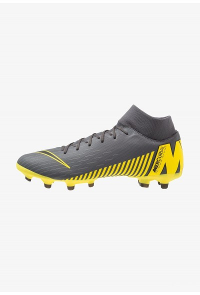 Nike MERCURIAL 6 ACADEMY MG - Chaussures de foot à crampons dark grey/black/opti yellow