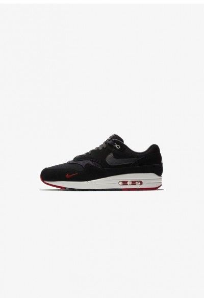 Nike AIR MAX 1 PREMIUM HERRENSCHUH - Baskets basses black/university red/sail/oil grey