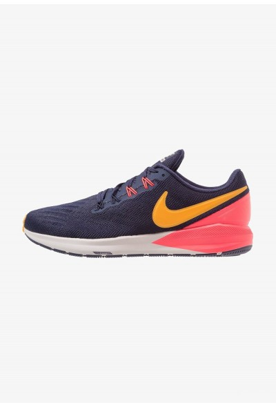Nike AIR ZOOM STRUCTURE  - Chaussures de running stables blackened blue/orange peel/flash crimson/moon particle/black