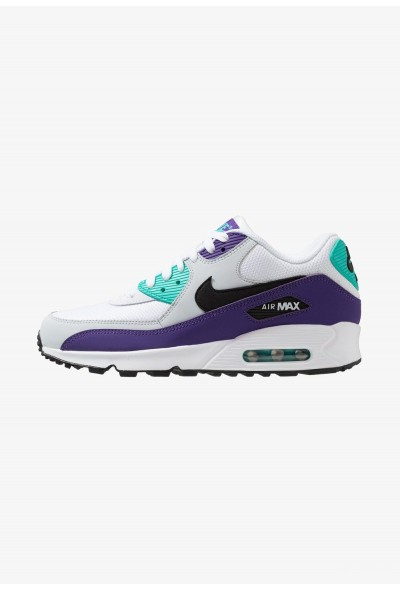 Nike AIR MAX 90 ESSENTIAL - Baskets basses white/black/hyper jade/court purple/pure platinum