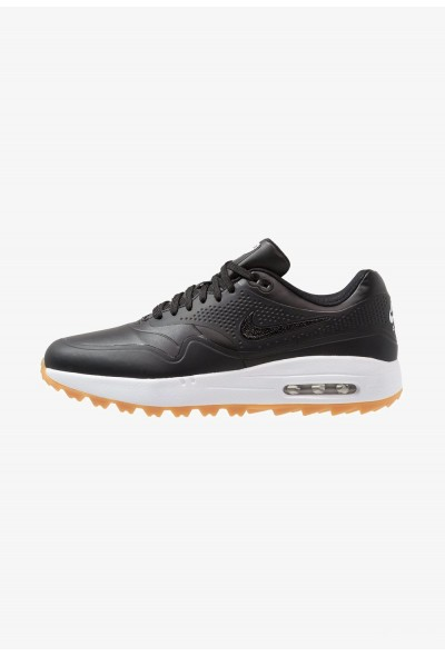 Nike AIR MAX 1 - Chaussures de golf black/light brown