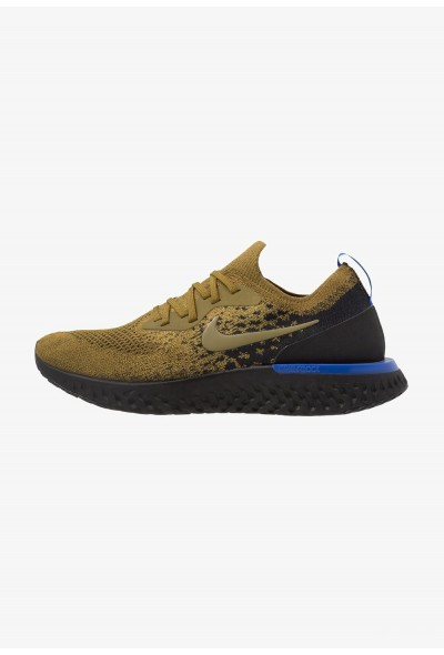 Nike EPIC REACT FLYKNIT - Chaussures de running neutres olive flak/black/hyper royal/hyper crimson