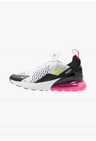Nike AIR MAX 270 - Baskets basses white/volt black/laser fuchsia