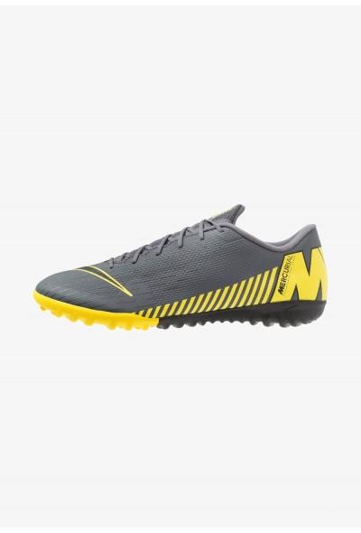 Nike MERCURIAL VAPORX 12 ACADEMY TF - Chaussures de foot multicrampons dark grey/black/opti yellow