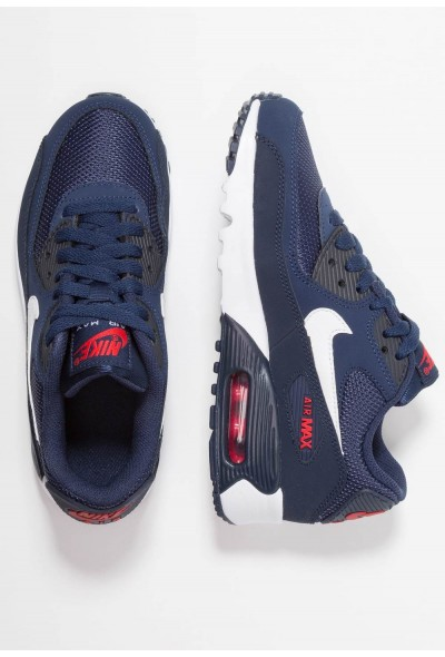 Nike AIR MAX 90 - Baskets basses midnight navy/white/universal red/obsidian