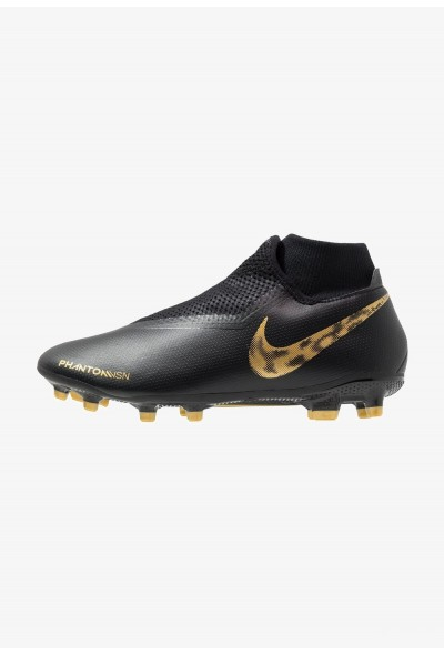 Nike PHANTOM OBRA 3 ACADEMY DF MG - Chaussures de foot à crampons black/metallic vivid gold