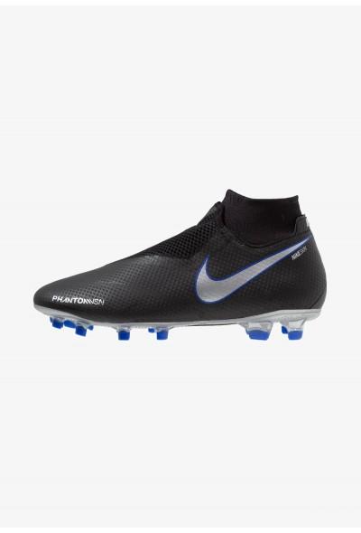 Nike PHANTOM OBRA 3 PRO DF FG - Chaussures de foot à crampons black/metallic silver/racer blue