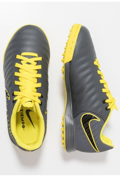 Nike TIEMPO LEGENDX 7 ACADEMY TF - Chaussures de foot multicrampons dark grey/black/opti yellow