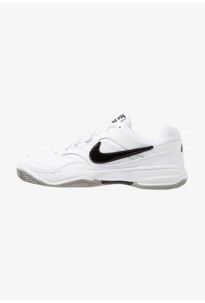 Nike COURT LITE CLAY - Chaussures de tennis sur terre battue white/black/medium grey