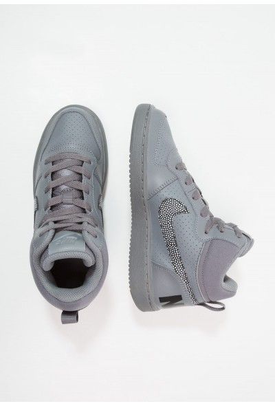 Nike COURT BOROUGH MID - Baskets montantes cool grey/black