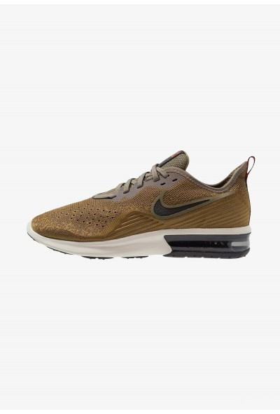 Black Friday 2019 - Nike AIR MAX SEQUENT 4 - Chaussures de running neutres med olive/black/olive flak/team orange/light bone