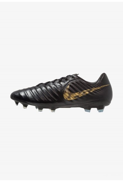 Nike TIEMPO LEGEND 7 PRO FG - Chaussures de foot à crampons black/metallic vivid gold