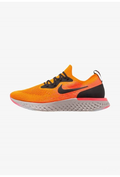 Nike EPIC REACT FLYKNIT - Chaussures de running neutres copper flash/black/flash crimson/moon particle