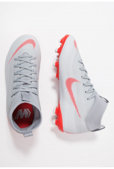 Nike MERCURIAL 6 ACADEMY MG - Chaussures de foot à crampons wolf grey/light crimson/pure platinum/metallic silver